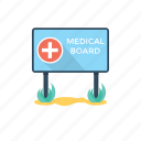 hospital sign board, medical sign board, medical signage, pharmacy sign board, sign board for medical store icon