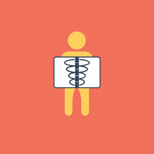 chest x-ray, noninvasive medical test, radiography, x-ray examination, x-ray procedure icon