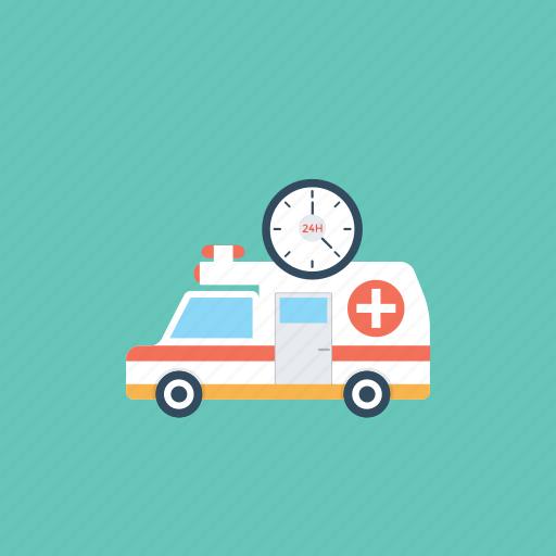 24 hours ambulance service, ambulance service, emergency ambulance service, hospital emergency service, hospital transport service icon