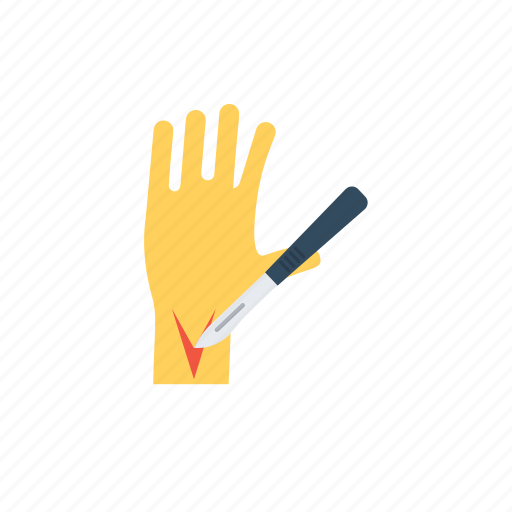 hand surgery, scalpel, surgical device, surgical instrument, surgical tool icon