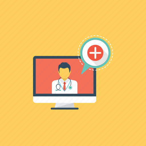 online doctor, online medical service, online medical support, online medicine, online pharmacy icon