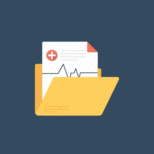 health record, medical chart, medical folder, medical record, medical report icon