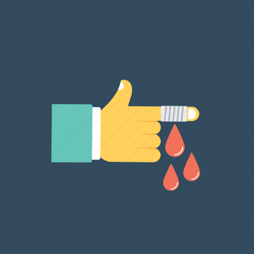 Blood drops, finger bleeding, finger injury, hand injury, wound icon - Download on Iconfinder