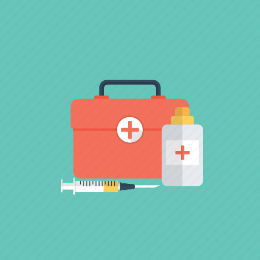 first aid kit, healthcare, medical aid, medical emergency, medicine case icon