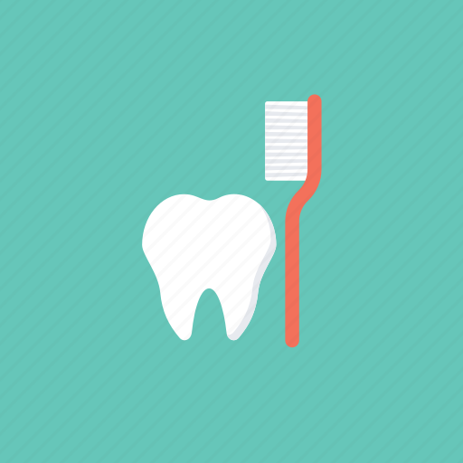 dental clinic, dental health, dentistry, tooth, tooth with toothbrush icon