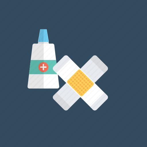 bandage, bandaid, injury band, medical plaster, plaster band icon