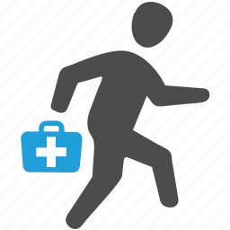 doctor, doctor on duty, emergency, first aid, medical help, on call doctor, physician icon