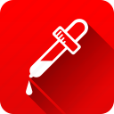 eye dropper, health care, medical instruments icon