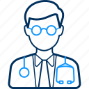 doctor, health, hospital, male, medical, patient icon