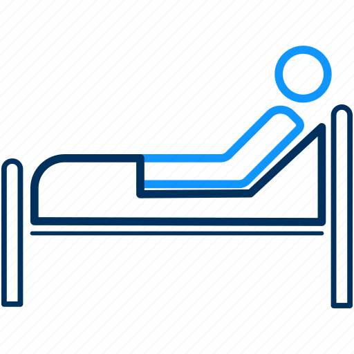 bed, care, healthcare, hospital, medical, patient icon