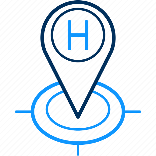 gps, hospital, location, map, navigation, pin icon