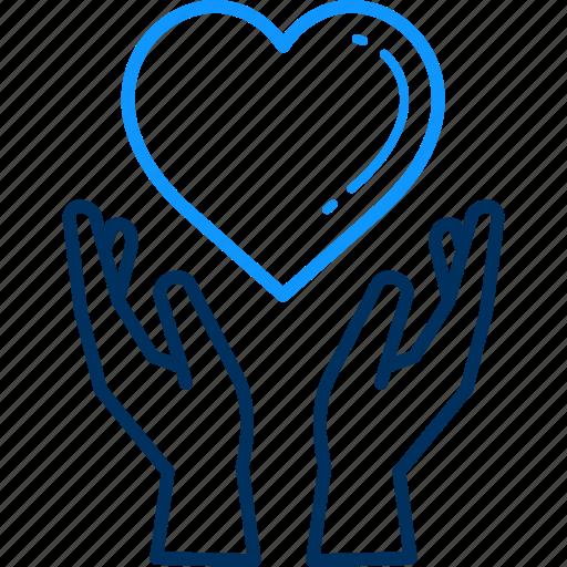 care, heart, love, save icon