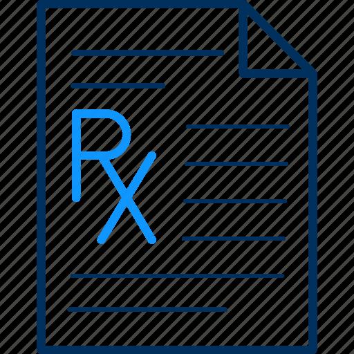 document, file, format, prescription icon