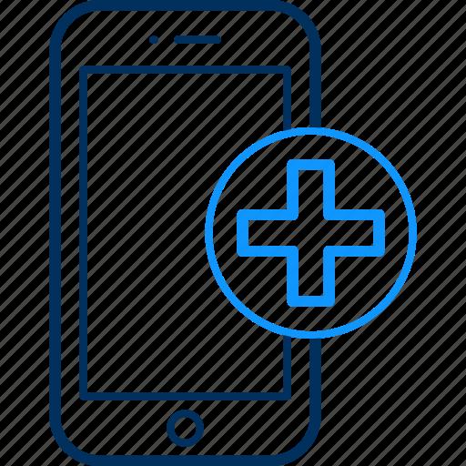 health, mobile, phone icon
