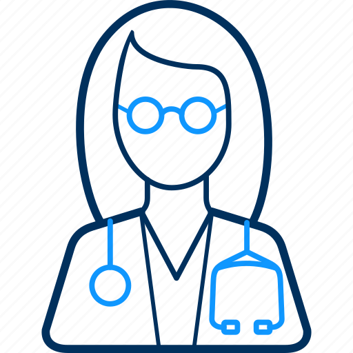 Lady, doctor, health, hospital, patient, medical icon
