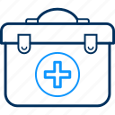 briefcase, doctor, health, hospital, medical, patient icon