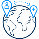 distance, gps, hospital, location icon