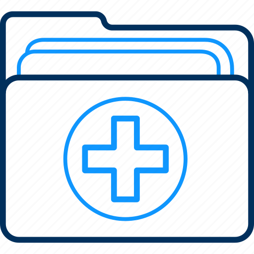 doctor, documents, folder, hospital, medical, patient icon