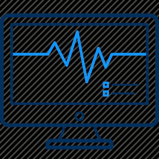 ecg, lines, monitor icon