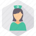 female, healthcare, hospital, lady, medical, nurse, sister icon