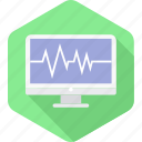 computer, ecg, healthcare, hospital, medical, report icon