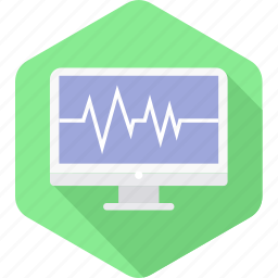computer, ecg, healthcare, hospital, medical, report icon