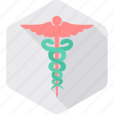 logo, medical, sign, asclepius, caduceus, healthcare