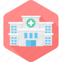 building, clinic, cross, hospital, medical icon