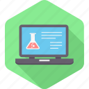 analysis, blood, laptop, report, sample, test icon