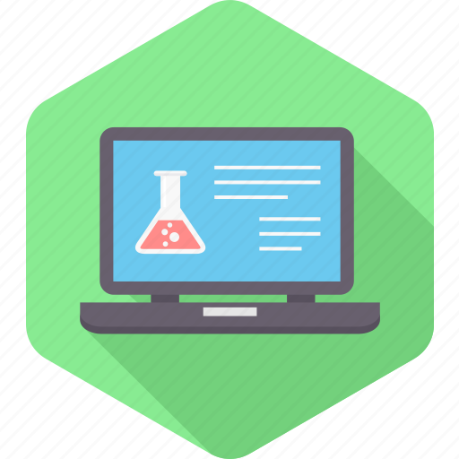 analysis, blood, laptop, report, sample, test icon