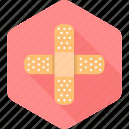aid, band, bandage, bandaid, care, injury, medical icon