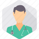 doctor, hospital, medical, practitioner, stethoscope, surgeon icon