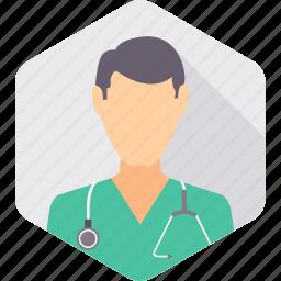 doctor, hospital, medical, practitioner, stethoscope, surgeon icon