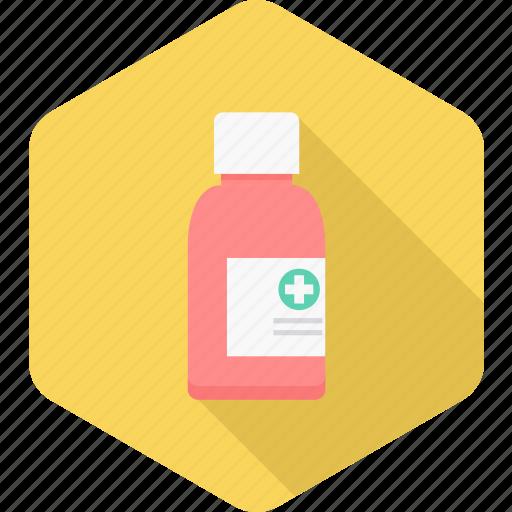 bottle, health, liquid, medication, medicine, pharmacy, syrup icon