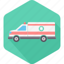 ambulance, clinic, emergency, hospital, medical, transportation, van icon