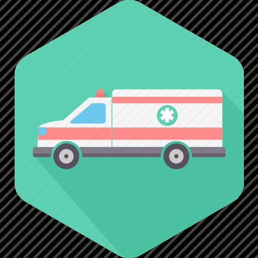 ambulance, clinic, emergency, hospital, medical, transportation, van icon