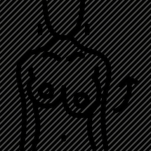 augmentation, breast, left, lifting, medical, nipple, surgery icon