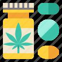 cannabis, drug, herbal, oil, pills, supplement icon