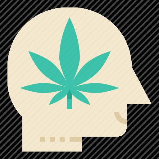 addiction, brain, cannabis, drug, effect, human, marijuana icon