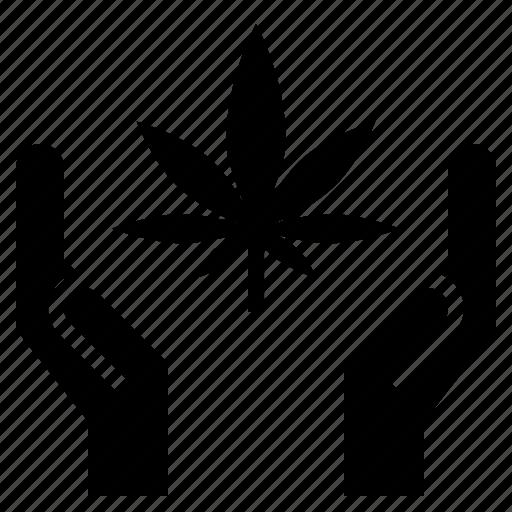 cannabis, charity, drug, marijuana, medical, support icon