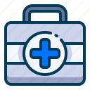 box, emergency, first aid, healthy, kit, medical, medicine icon