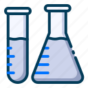 flask, fluid, healthy, lab, medical, research, test icon
