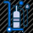 breathing, healthy, medical, o2, oxygen, oxygen regulator, oxygen tube icon
