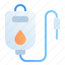 bag, blood, donation, dropper, healthy, medical, transfusion icon