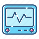 analytic, ecg, ekg, healthcare, heartbeat, monitor, pulse icon