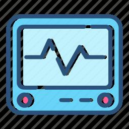 analytic, ecg, ekg, healthcare, heartbeat, monitor, pulse icon