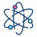atom, chemistry, medicine, molecular, molecule, research, science icon