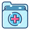 document, folder, health, healthcare, hospital, medical, medicine icon