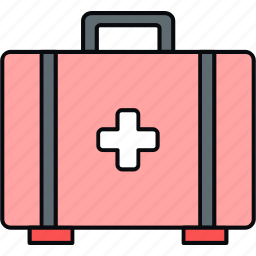 briefcase, first aid, firstaid bag, kit, medical, medical kit, suitcase icon