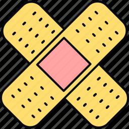 adhesive, bandage, bandaid, healthcare, hospital, medical, plaster icon